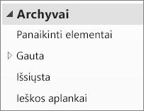 Išplėsti archyvo failą, naršymo srityje ir ieškokite jo poaplankius.