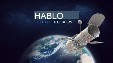 Koncepcinis 3D Hubble pateikties viršelio vaizdas