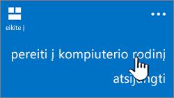 kompiuterio rodinio mygtukas