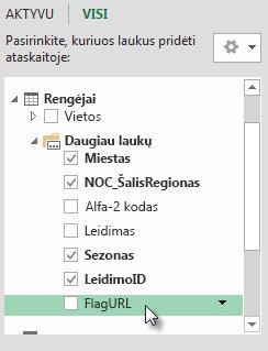 FlagURL įtrauktas į Hosts lentelę