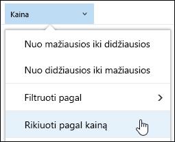 """Dokumentų bibliotekos Grupuoti pagal rodinį """"Office 365"""""""