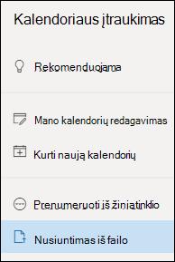 Nusiuntimas iš failo
