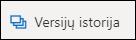 """""""OneDrive"""" juostelės mygtukas versijų retrospektyva"""