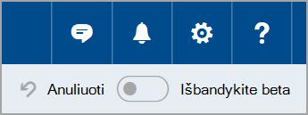 """Prisijungimas prie """"Outlook.com"""" beta"""