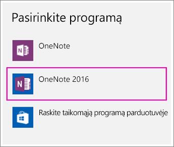 """""""Windows 10"""" parametrų parinkties Pasirinkite taikomąją programą ekrano nuotrauka."""