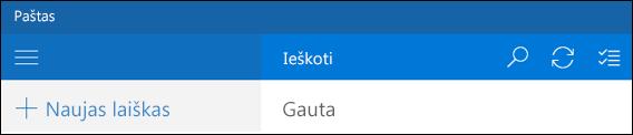 """Ieška programoje """"Outlook paštas"""""""