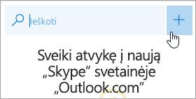 Mygtuko Naujas pokalbis ekrano nuotrauka