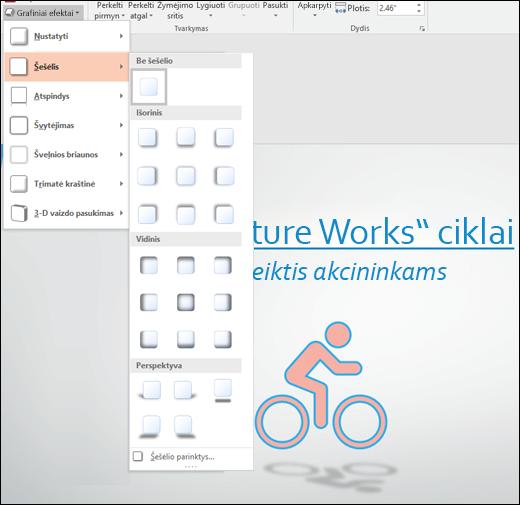 Pridėkite efektų, pvz., šešėlių, į savo SVG grafiką, naudodami įrankį Grafinio objekto efektai