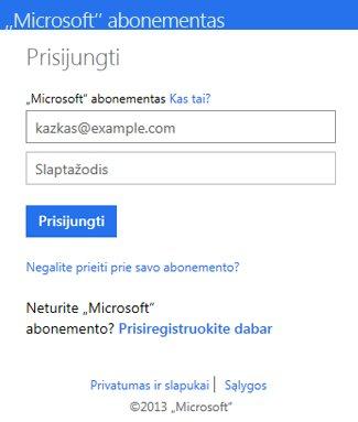 """OneDrive"" ženklas dialogo lange"