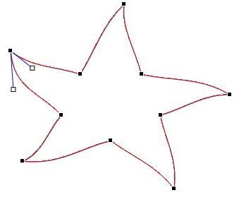 Figūros redagavimo taškai