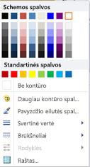 """""""WordArt"""" figūros kontūro formatavimo parinktys programoje """"Publisher 2010"""""""