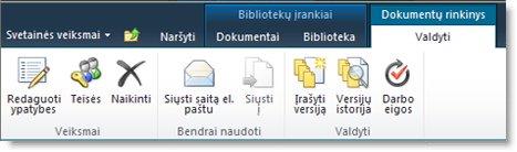 Dokumentų rinkinio juostelės tvarkymas