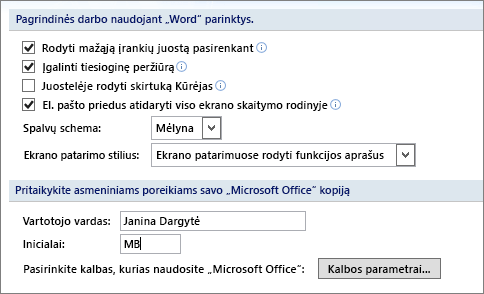Word 2007 Populiarios funkcijos