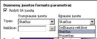 formatting settings for data bars