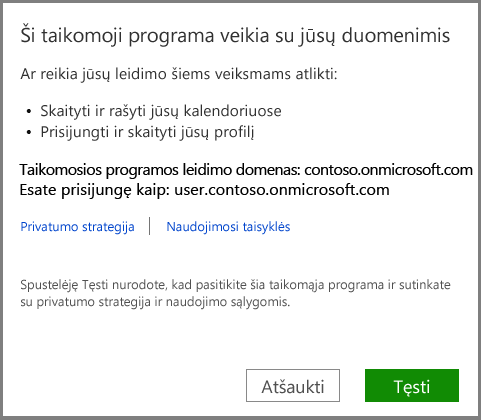"Prisijunkite prie ""Office 365"""