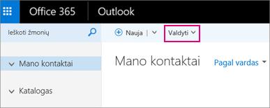 """Puslapio Žmonės vaizdas internetinėje """"Outlook"""""""