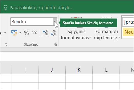 Sąrašo laukas skaičių formatas