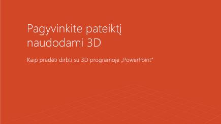 """3D """"PowerPoint"""" šablono viršelio ekrano nuotrauka"""
