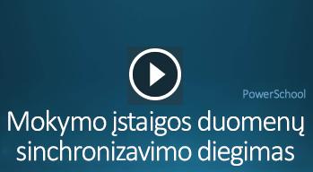 Mokymo įstaigos duomenų sinchronizavimo diegimo vaizdo įrašas