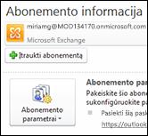 """Įtraukite naują el. pašto paskyrą į """"Outlook 2010"""""""
