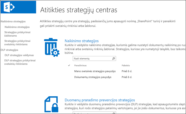 Atitikties strategija centre