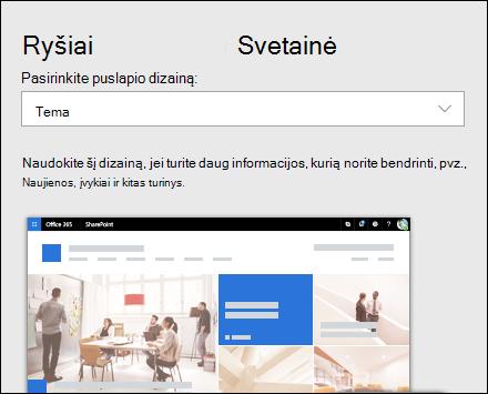 """Dizaino taikymas """"SharePoint"""" svetainei"""