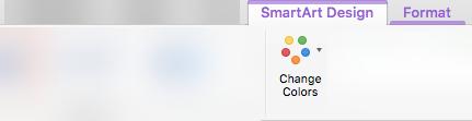"""""""SmartArt"""" grafinio elemento spalvų keitimas"""