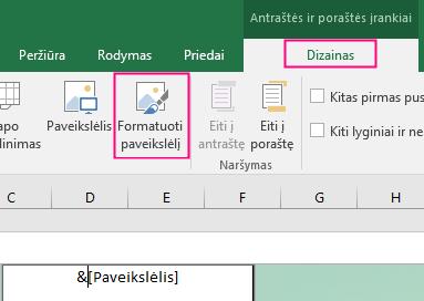 """Excel"" fono formatavimas"
