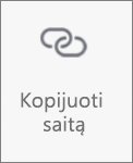 """Mygtukas Kopijuoti saitą programėlėje """"OneDrive"""", skirtoje """"Android"""""""