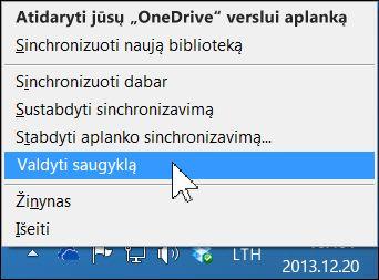 """OneDrive"" verslui saugyklos tvarkymas"