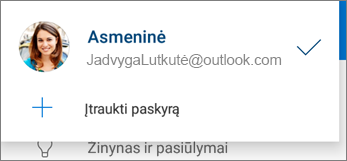 """Abonemento įtraukimas į programėlę """"OneDrive"""", skirta """"Android"""""""