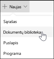 """""""SharePoint"""" dokumentų bibliotekos kūrimas"""