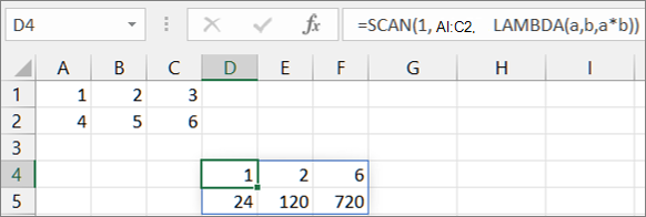 First SCAN function example