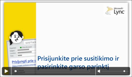 """""""PowerPoint"""" skaidrės su vaizdo valdikliais ekrano nuotrauka"""