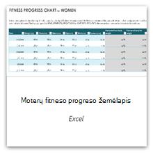 Pasirinkite, kad gautumėte moterų kūno rengybos progreso lentelės šabloną.