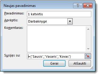Dialogo langas Naujas pavadinimas