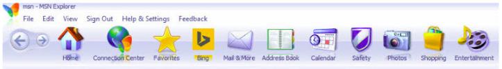 MSN Explorer juostelės