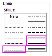 linijos stiliai