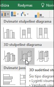 3-D sudėtinė stulpelinė diagrama