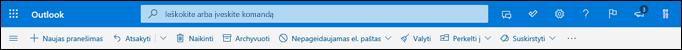 """""""Outlook.com"""" aplanko Gauta antraštė"""