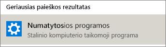 """Numatytosios programos sistemoje """"Windows"""""""