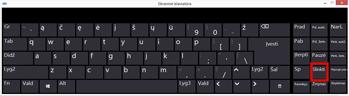 """""""Windows 10"""" Ekraninė klaviatūra su Scroll Lock"""