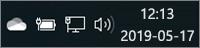 """""""OneDrive"""" balta piktograma sistemos dėkle"""