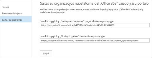 """""""Office 365"""" vaizdo įrašų gairės"""