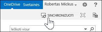 """Sinchronizuokite """"OneDrive"""" verslui programoje """"SharePoint 2013"""""""