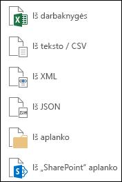 Duomenų gavimas iš failo