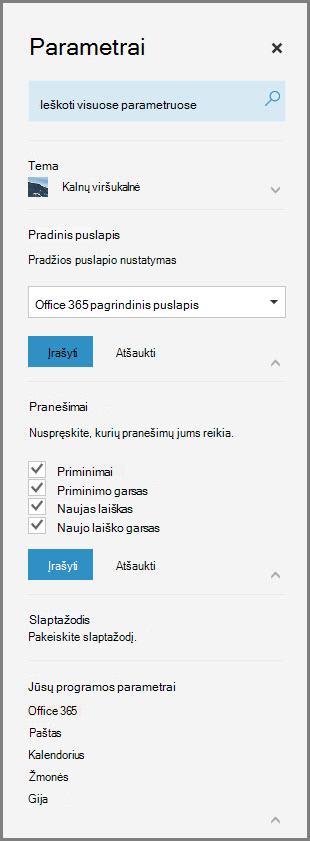 """""""Office 365"""" pranešimai"""