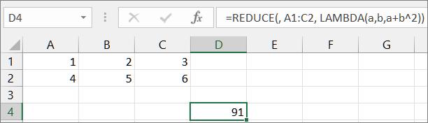 Pirmasis funkcijos REDUCE pavyzdys1