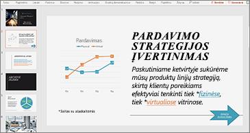 Pateiktis su skaidre, kurioje yra diagrama ir tekstas su dviem hipersaitais