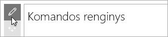 """Redaguoti """"Microsoft Forms"""" puslapio dalį."""